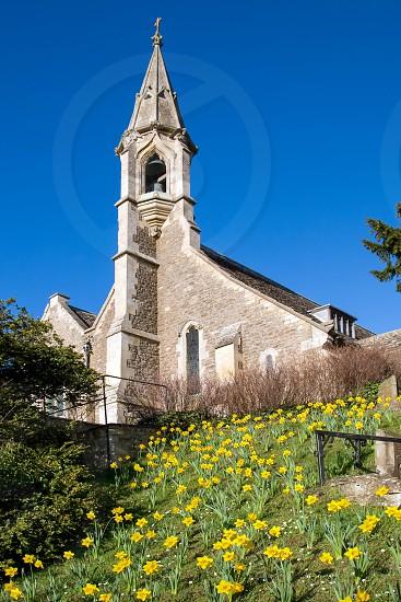 View of Clifton Hampden Church on a Sunny Spring Day photo