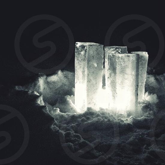 clear crystal on snow photo