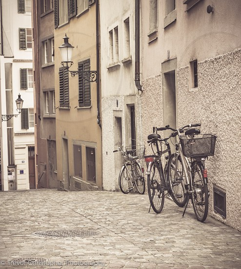 Bicycles Alley Cobble Pathway Solitude Book cover   photo