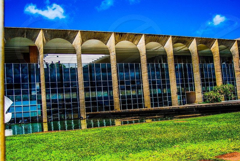Brasilia Downtown open window buildings photo