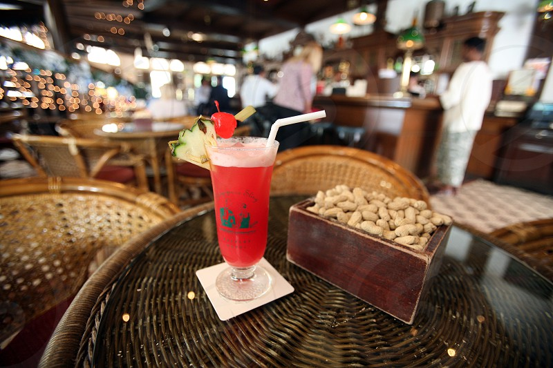 the Long Bar in the Raffles Hotel in the city of Singapore in Southeastasia. photo