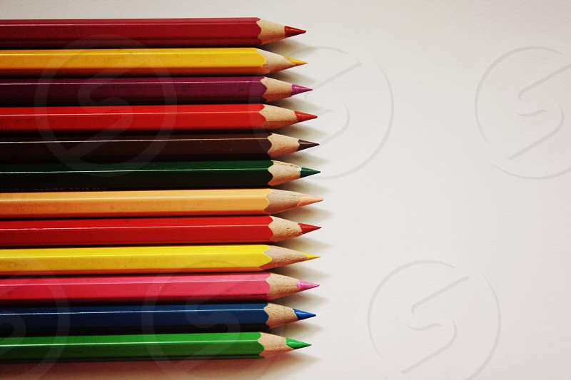Colored pencils for colored art photo