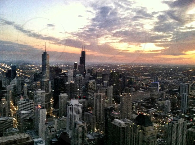 High above Chicago photo