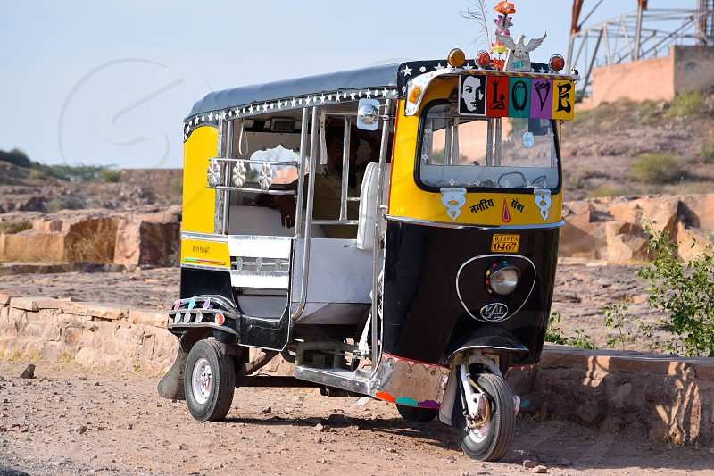 rickshaw India LOVE  photo