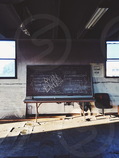 black board on the wall photo