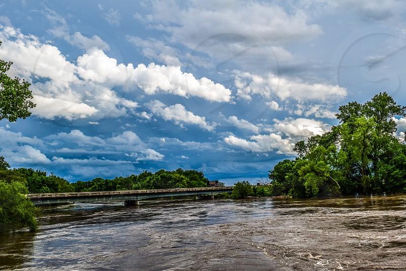 Travel Kansas Sky Water Bridge Clouds Landscapes Trees photo