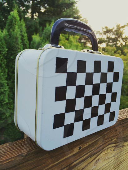 Lunchbox checkerboard magnetic school photo