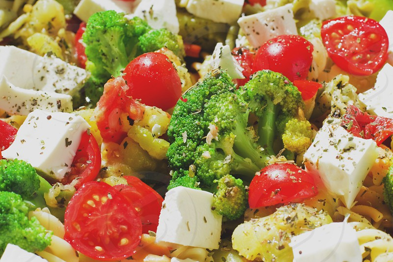 Different vegetables of vivid colors. photo
