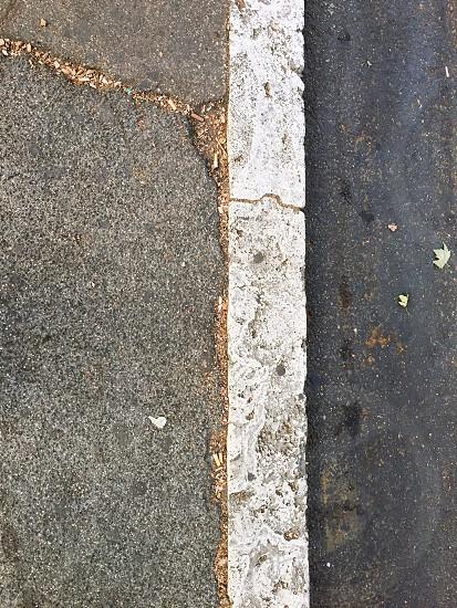 Asphalt street line painted outdoor photo