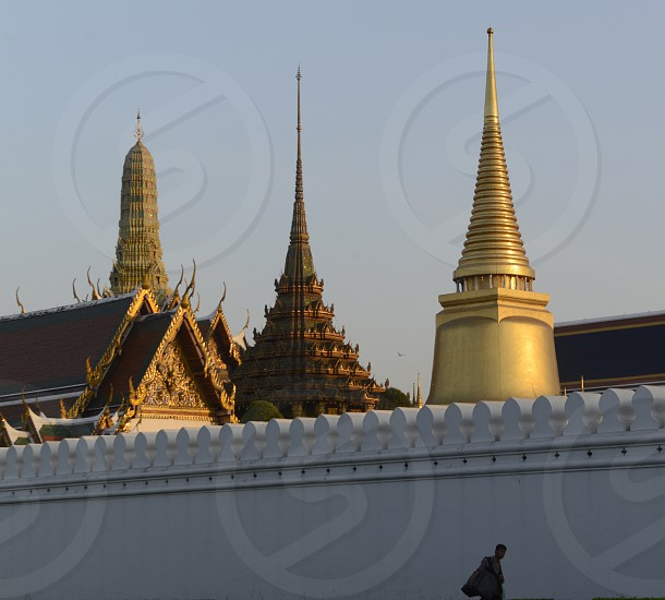 the Wat  Phra Kaew  in the city of Bangkok in Thailand in Southeastasia. photo
