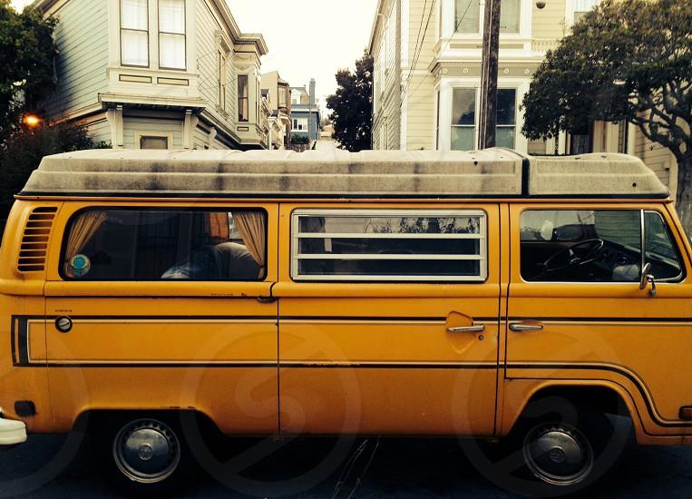 1960 yellow ve eurovan photo