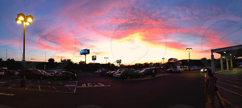 Fire sunset photo
