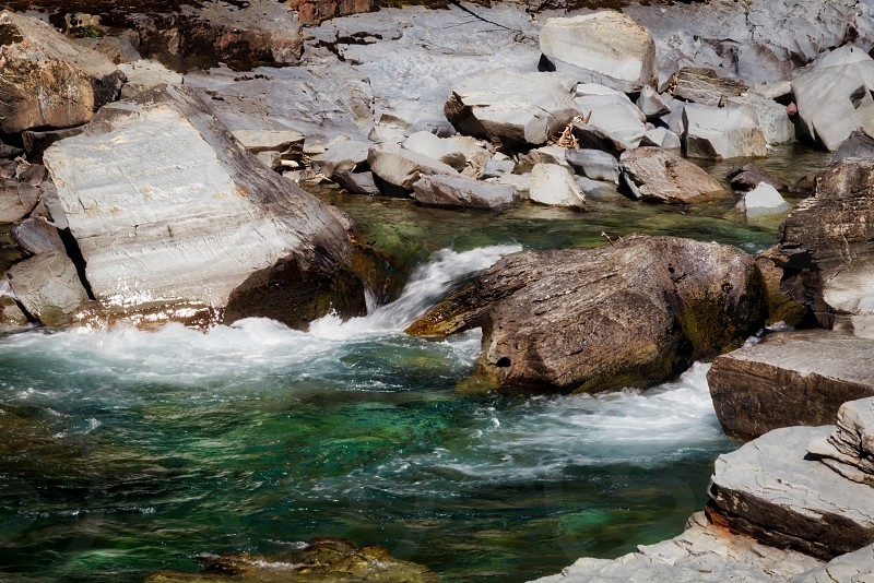 McDonald Creek in Glacier National Park photo