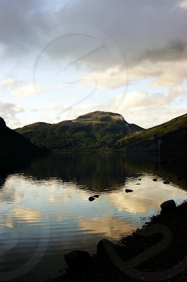 United Kingdom Scotland Loch Lubnaig near Callender. photo