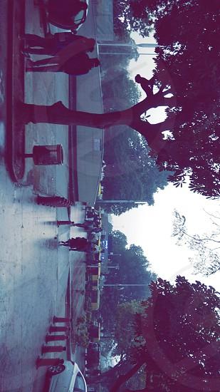 new delhi raining romantic connought place photo