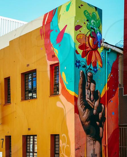Creativity wall painting  city facade photo