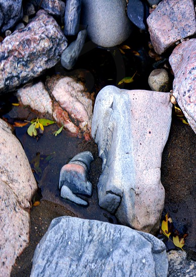 Colorado mountain stones rocks river photo
