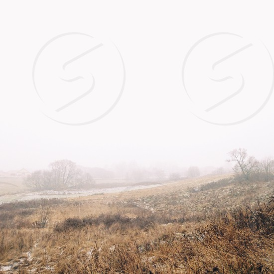 Foggy fields-Minsk Belarus photo