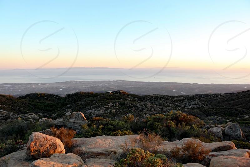 Santa Barbara hiking summit sunset photo