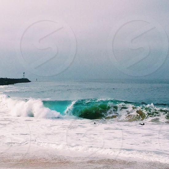 Beach. Surf. California. Ocean.  photo