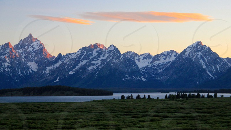 Tetons Sunset photo