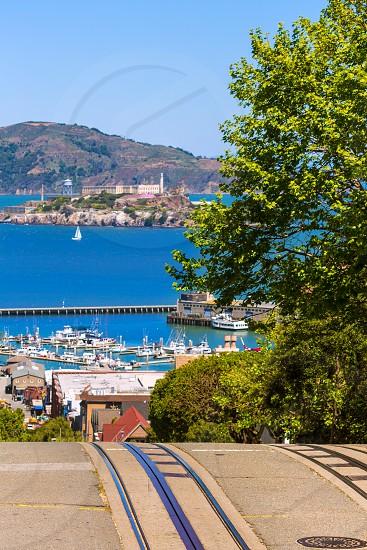 San francisco Hyde Street and Alcatraz Penitenciary California USA photo