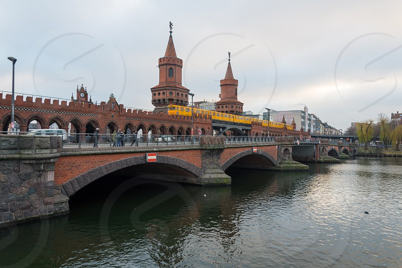 Oberbaum Bridge in Friedrichshain Berlin Germany photo