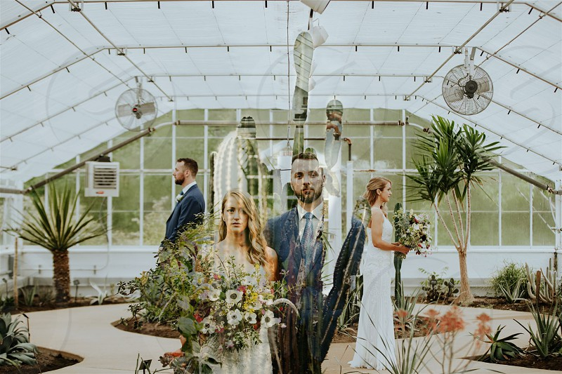 A wedding inside a Midwest Conservatory  photo