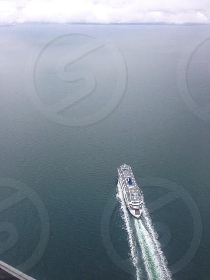 white yacht  photo