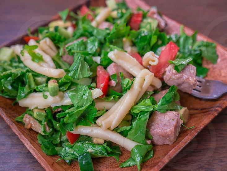 Pasta salad with tuna  photo