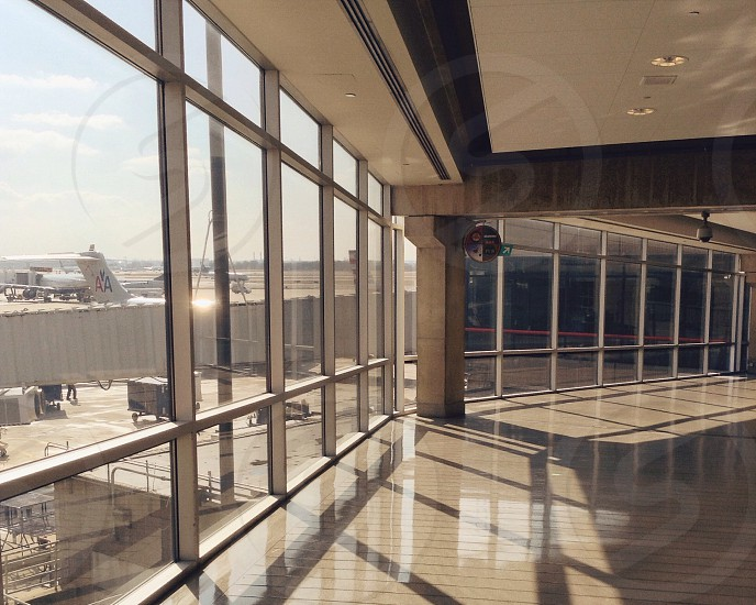 clear glass window building with sun rays photo