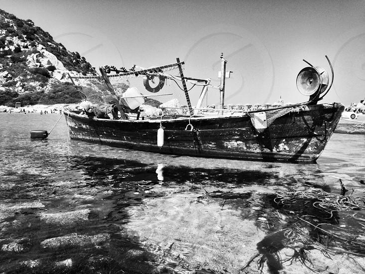 Wooden fish boat photo