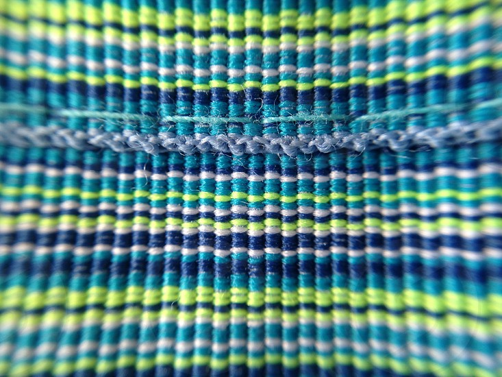 woven textiles blue green photo