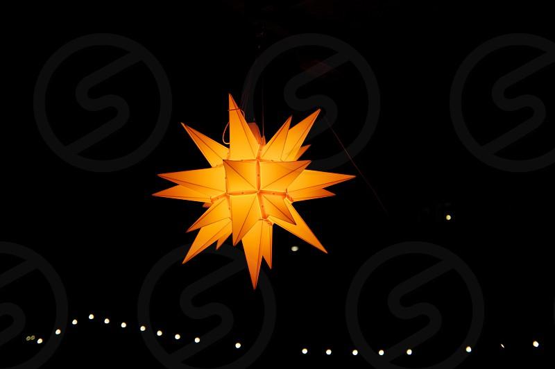 yellow star shaped light decor photo