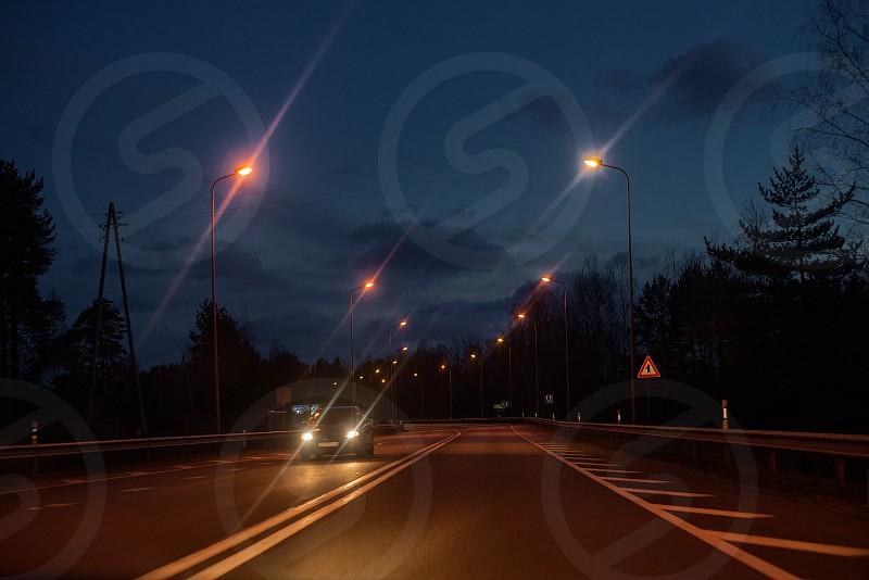 bridge of city in the night photo
