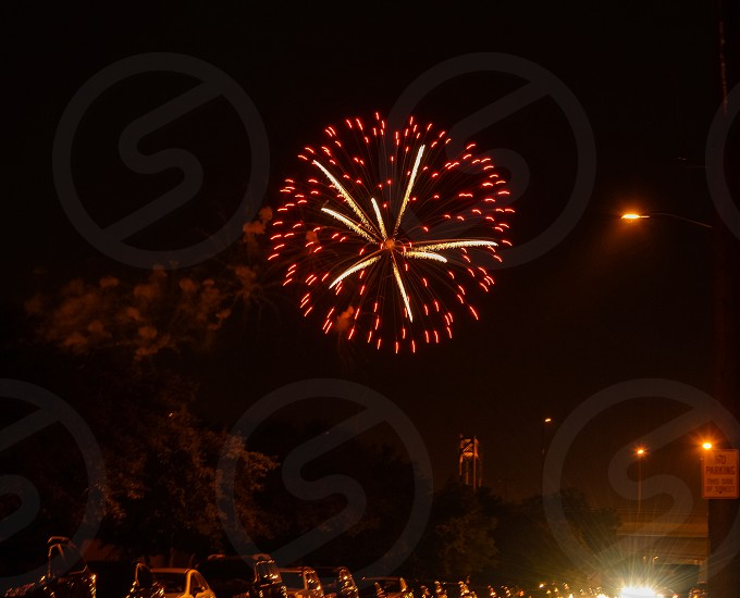Fireworks July 4th 2014 over Green Bay Wisconsin  photo