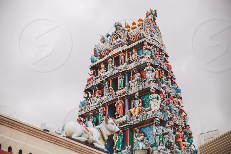 lower angle photo of temple photo