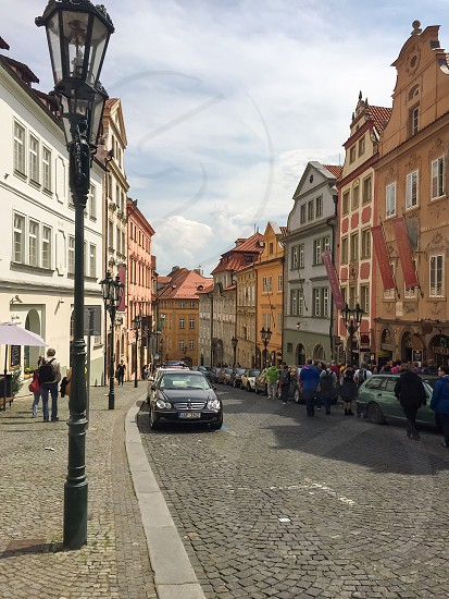 Prague Czech Republic city road travel sightseeing culture old city photo