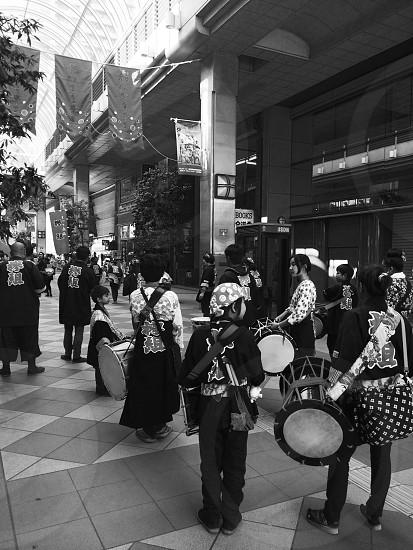Aoba festival in japan.  photo