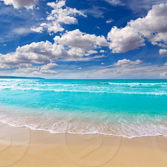 Majorca sArenal arenal beach Platja de Palma in mallorca Balearic Islands photo
