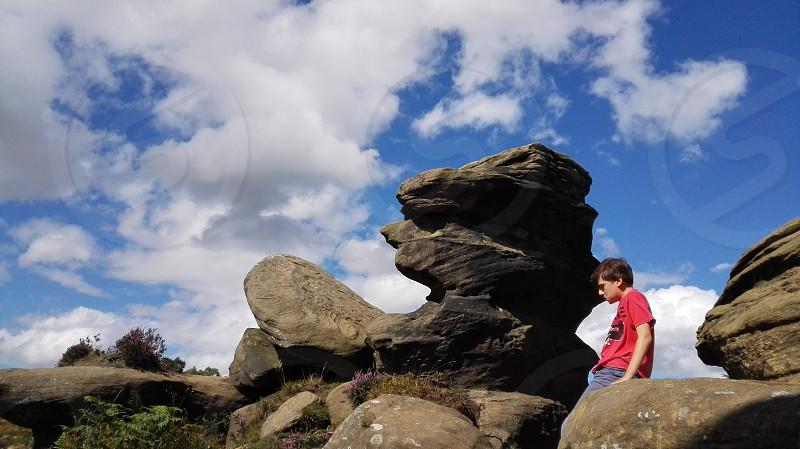 Brimham rocks North Yorkshire. photo