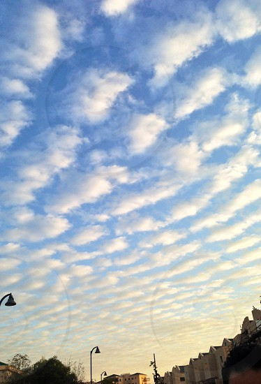 A beautiful clouds in the morning .  photo
