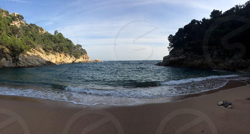 A small and quite beach in Tossa de Mar Barcelona  photo