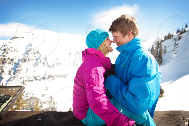 Engagement Shoot on the slopes of Telluride CO.  photo