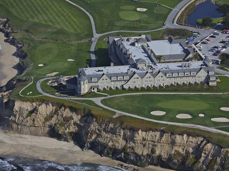 The Ritz-Carlton Hotel in Half Moon Bay California. photo