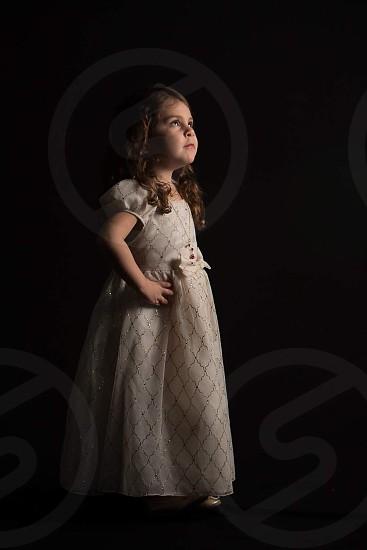 Confident princess toddler little girl photo