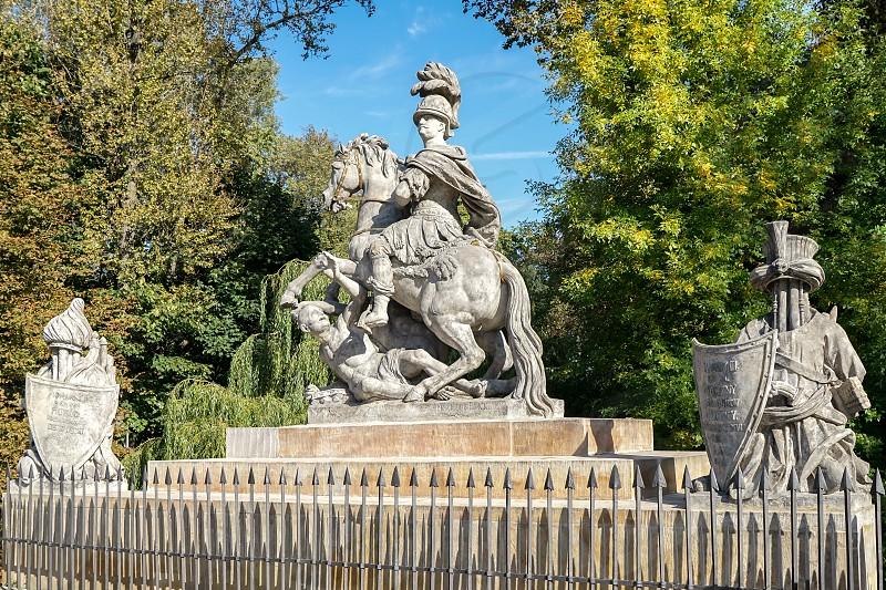 Sobieski Monument by Franciszek Pinck in Warsaw photo