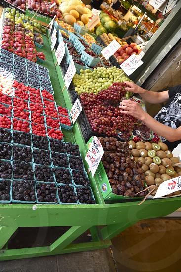 Farmers Market Fresh produce fruit berries. photo
