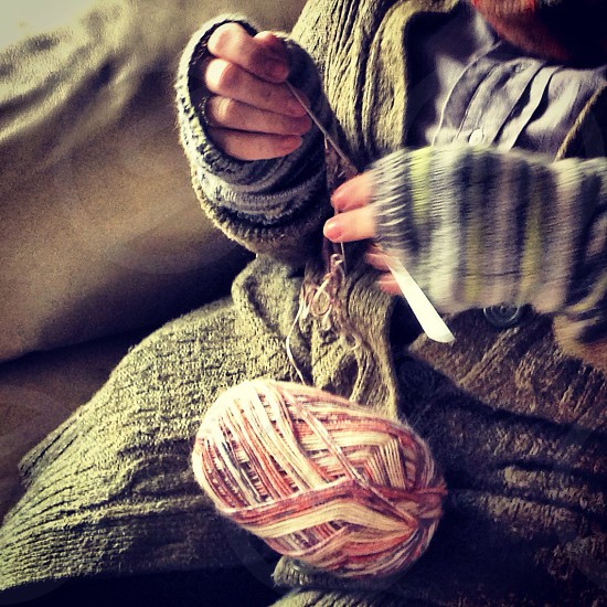 Knitting meets knitted photo