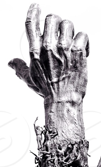 silver right human hand photo